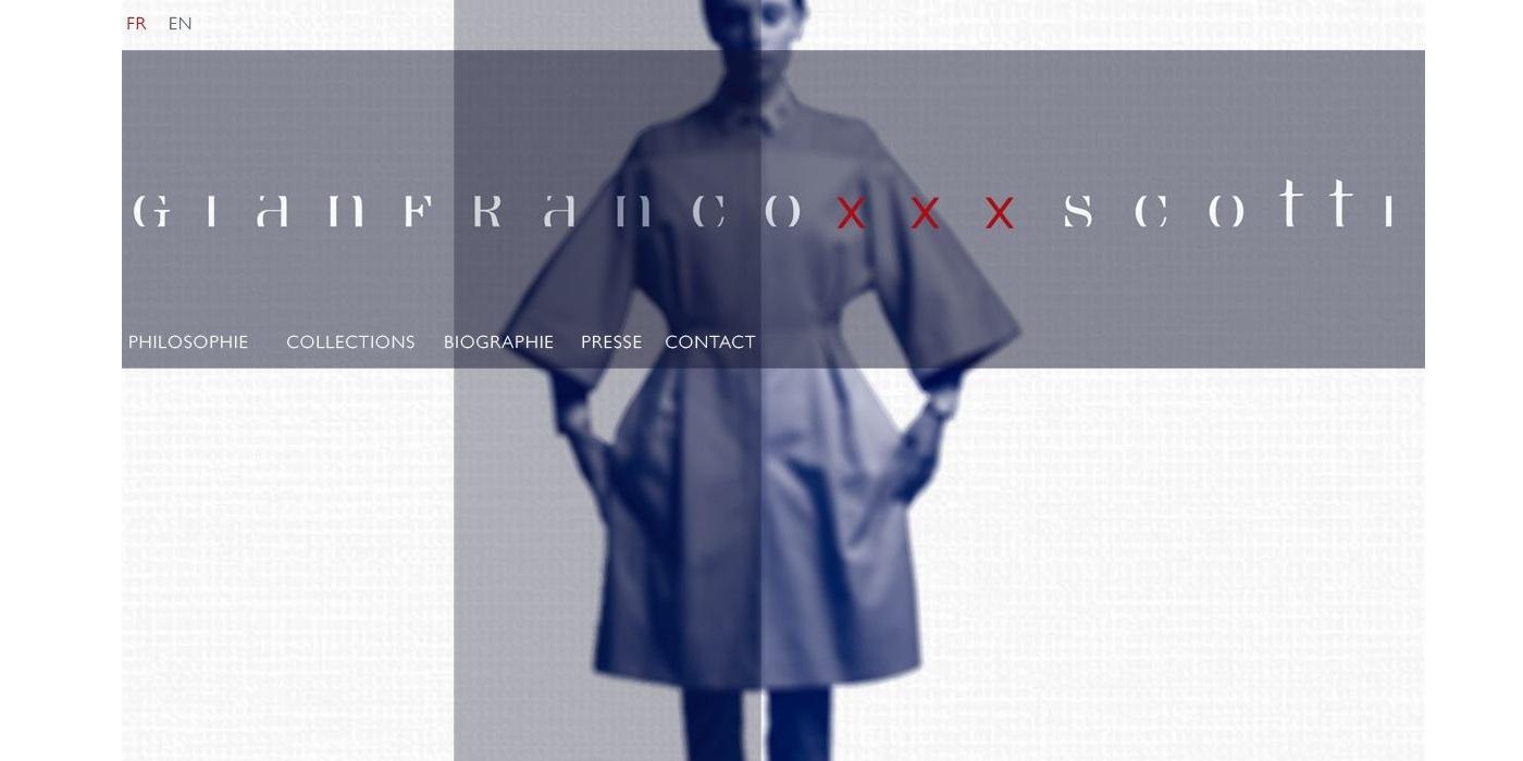conception Site vitrine portfolio GIANFRANCO SCOTTI - www.gianfrancoscotti