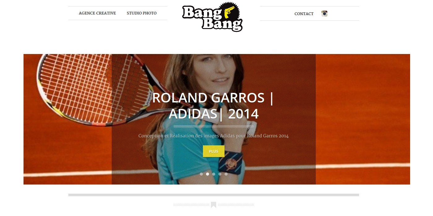 creation site vitrine BANG BANG - bang-bang_fr accueil