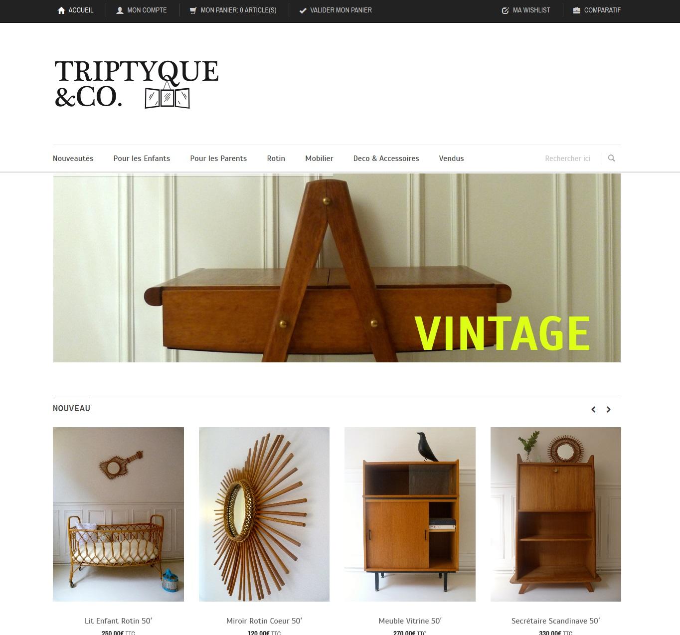 Triptyque & Co I Mobiliers et Objets vintage' - triptyqueandco_com home page 1