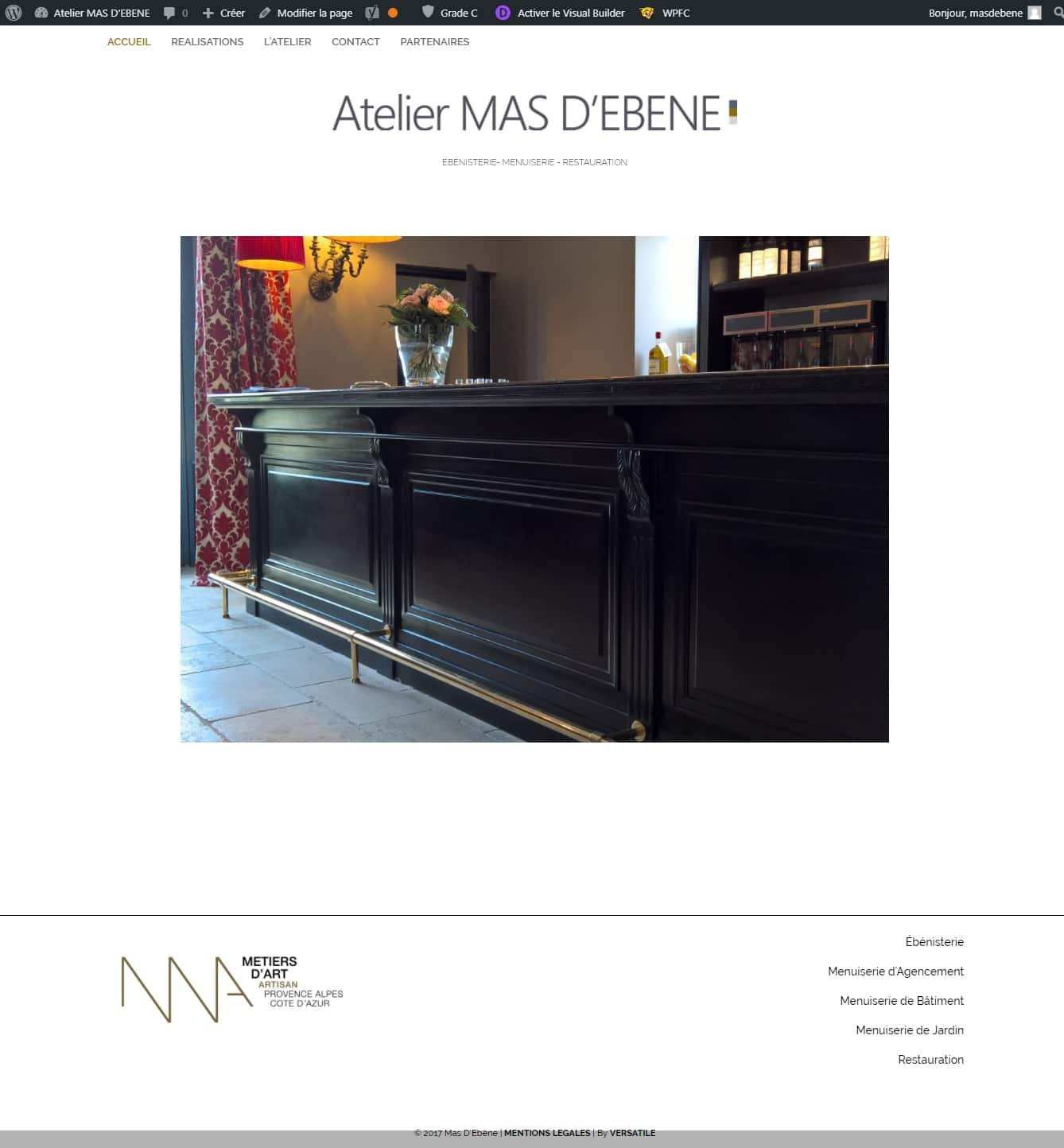 Atelier MAS D'EBENE Menuisier Ébéniste Artisan d art à Fontvieille