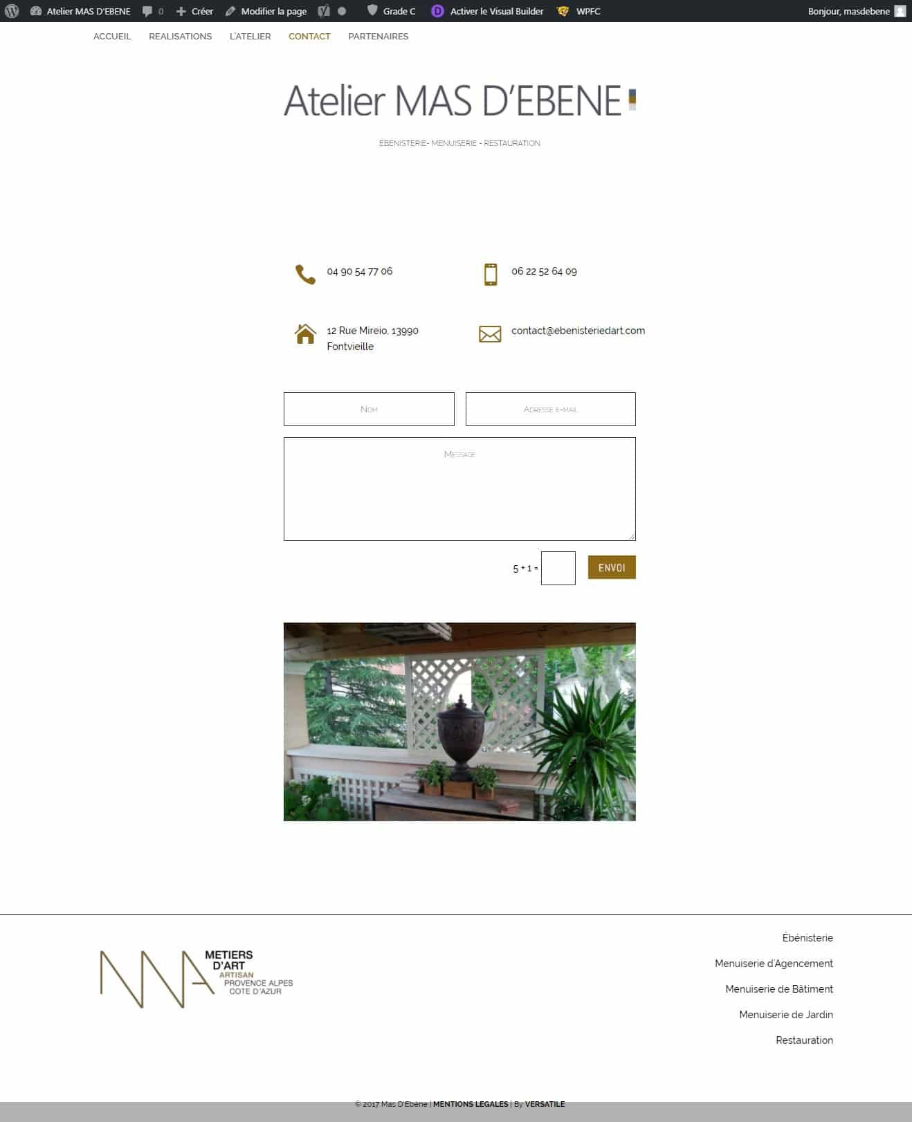 Contact Atelier MAS D'EBENE