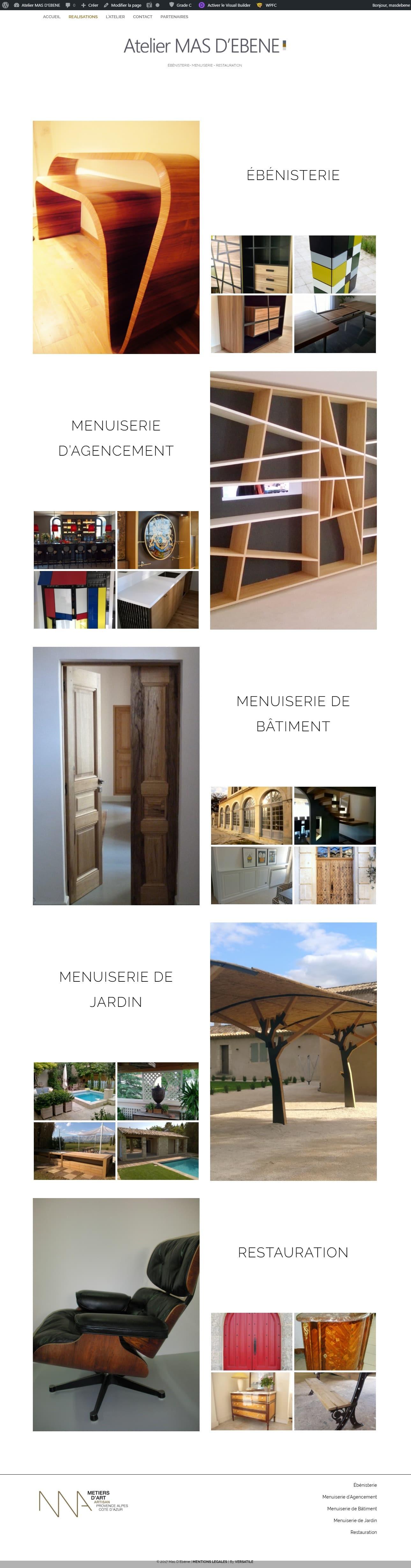 Toutes les réalisations menuiserie et ébénisterie de l atelier Mas D Ébène
