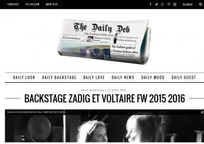 conception site blog magazine the daily deb - client deborah reyner sebag - juin 2015