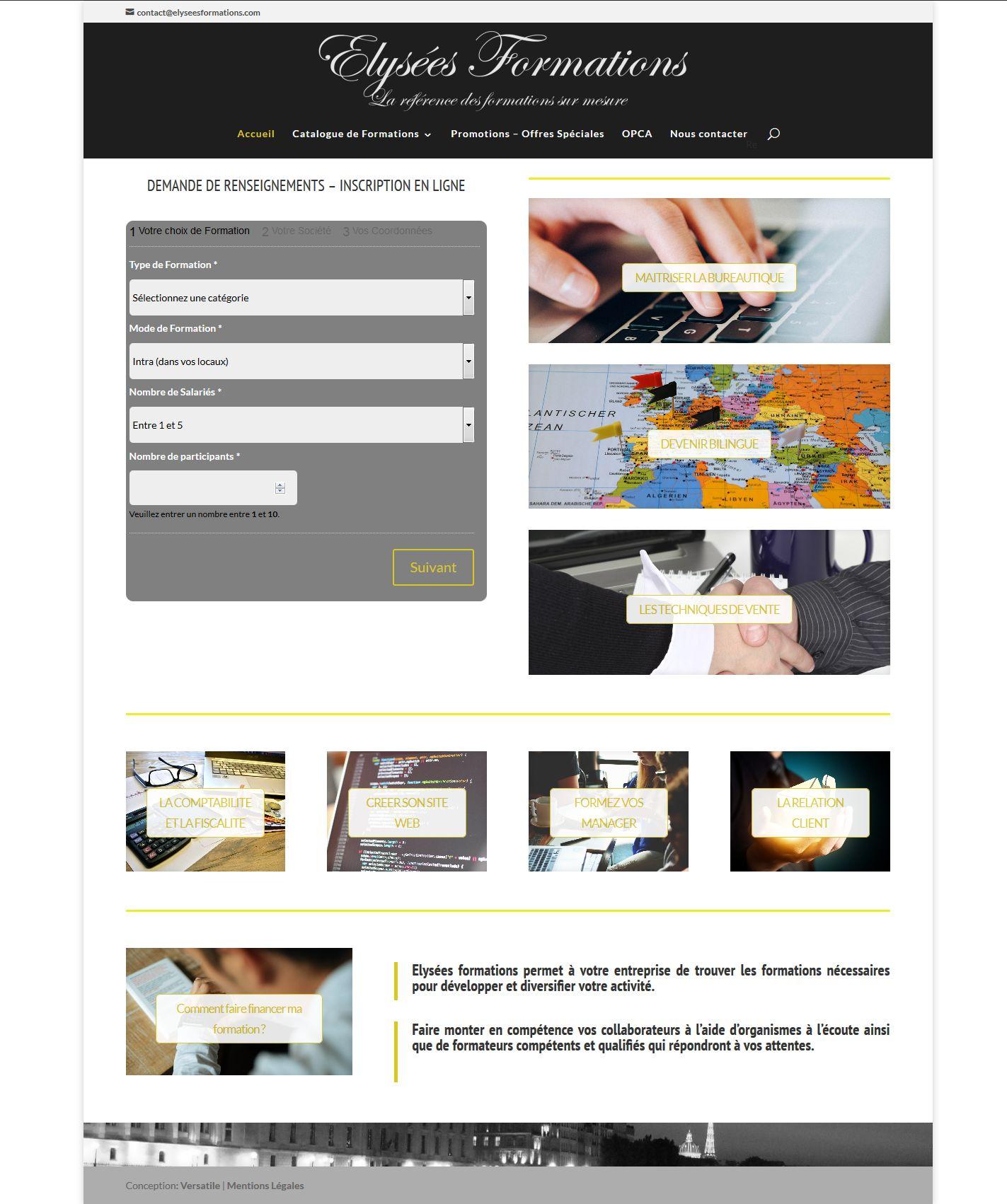 Formation professionnelle - Financement I Elysées Formations' - elyseesformations_com