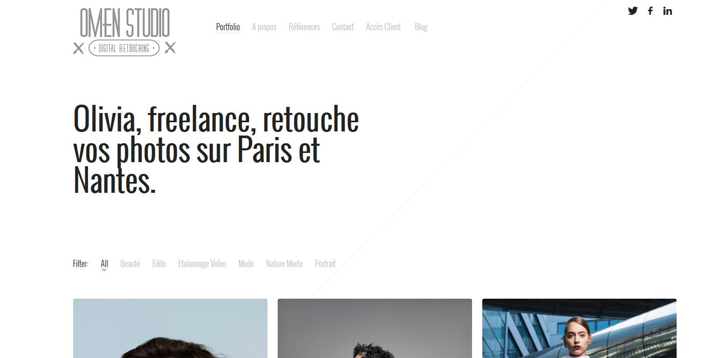 creation site omen studio retouche - portfolio - client olivia rodrigue -  avril 2015 home