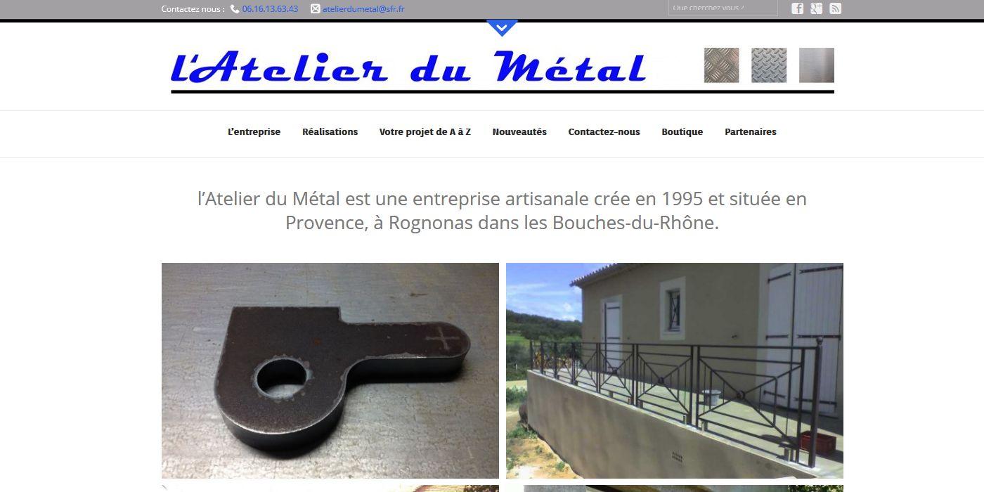 creation site vitrine et ecommerce l'Atelier du Métal - client Artisan Metallier Ferronnier -  janvier 2015 atelierdumetal-provence.com
