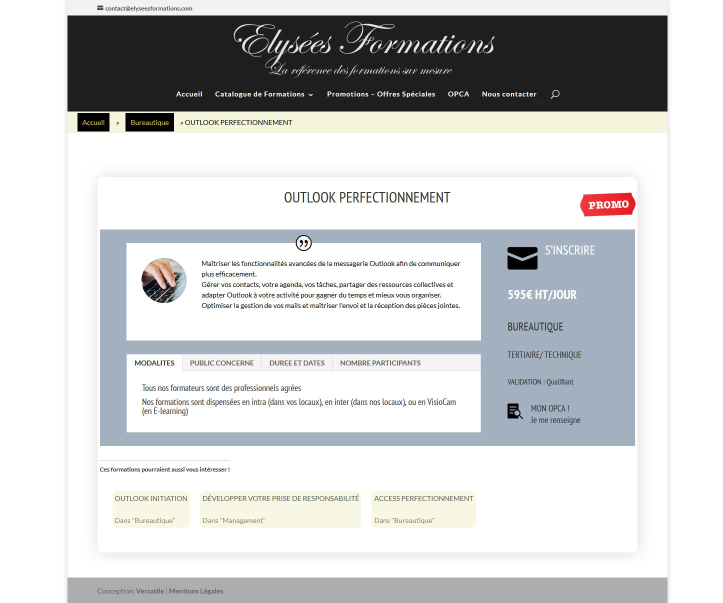 fiche OUTLOOK PERFECTIONNEMENT' - elyseesformations_com_outlook-perfectionnement