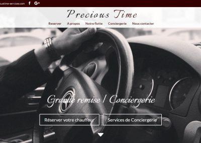 home page Chauffeur Grande Remise Conciergerie Precious Time services