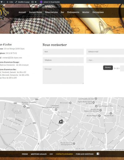 221B Dijon - page contact