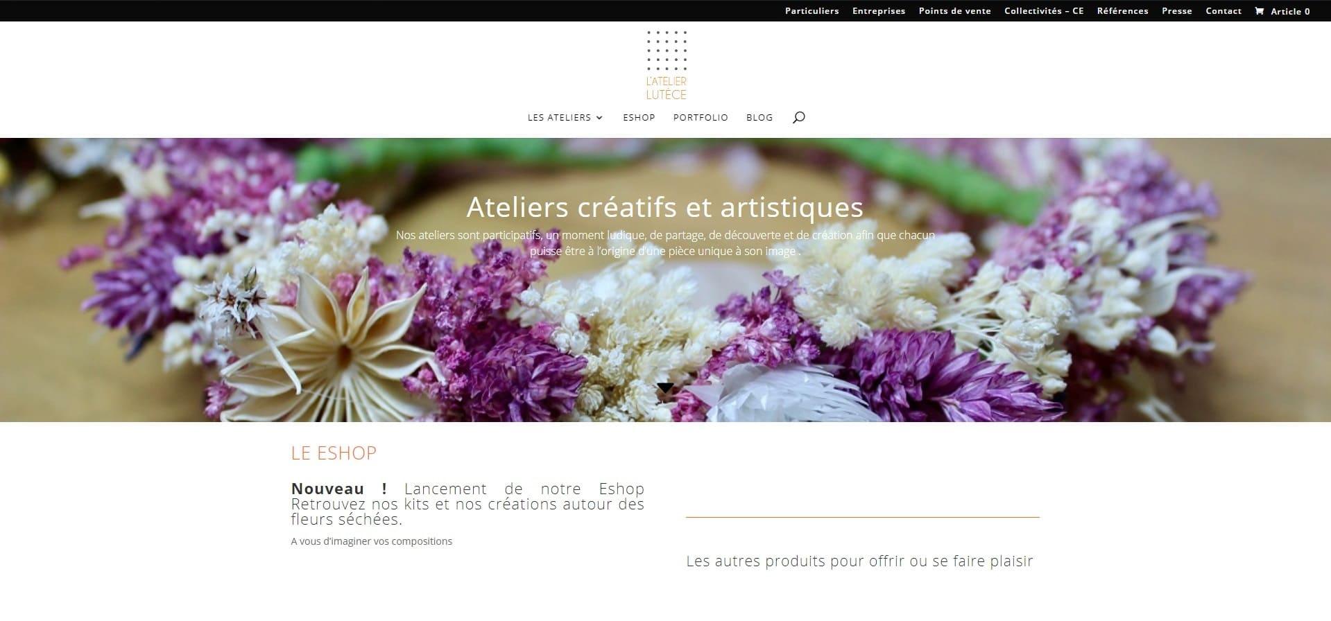 ATELIER LUTECE Ateliers créatifs et artistiques